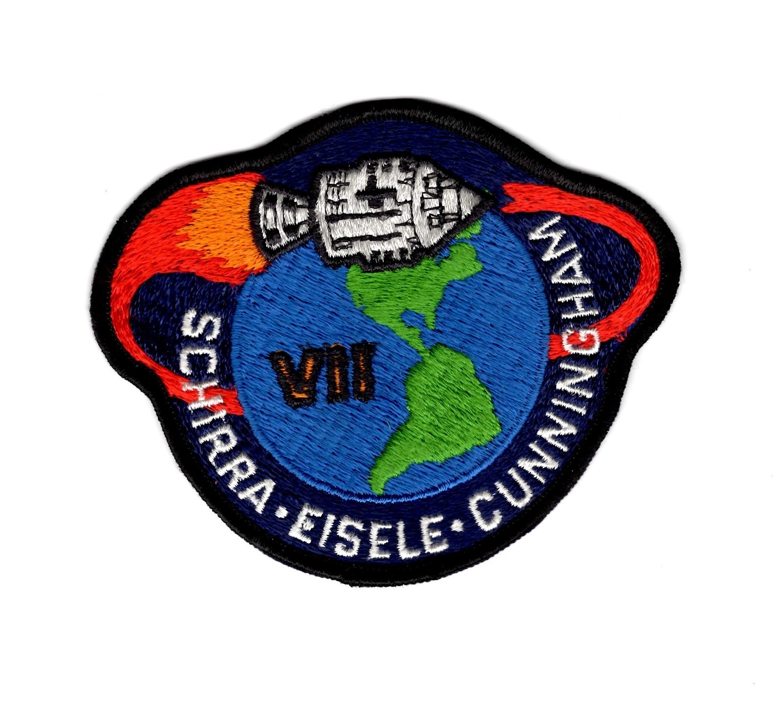 NASA APOLLO 7 APOLLO VII MISSION PATCH SCHIRRA EISELE ...