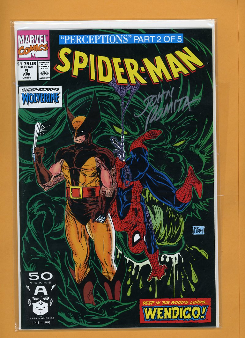 John Romita SR Spider Man 9 Hand Signed Autograph Comic Book COA