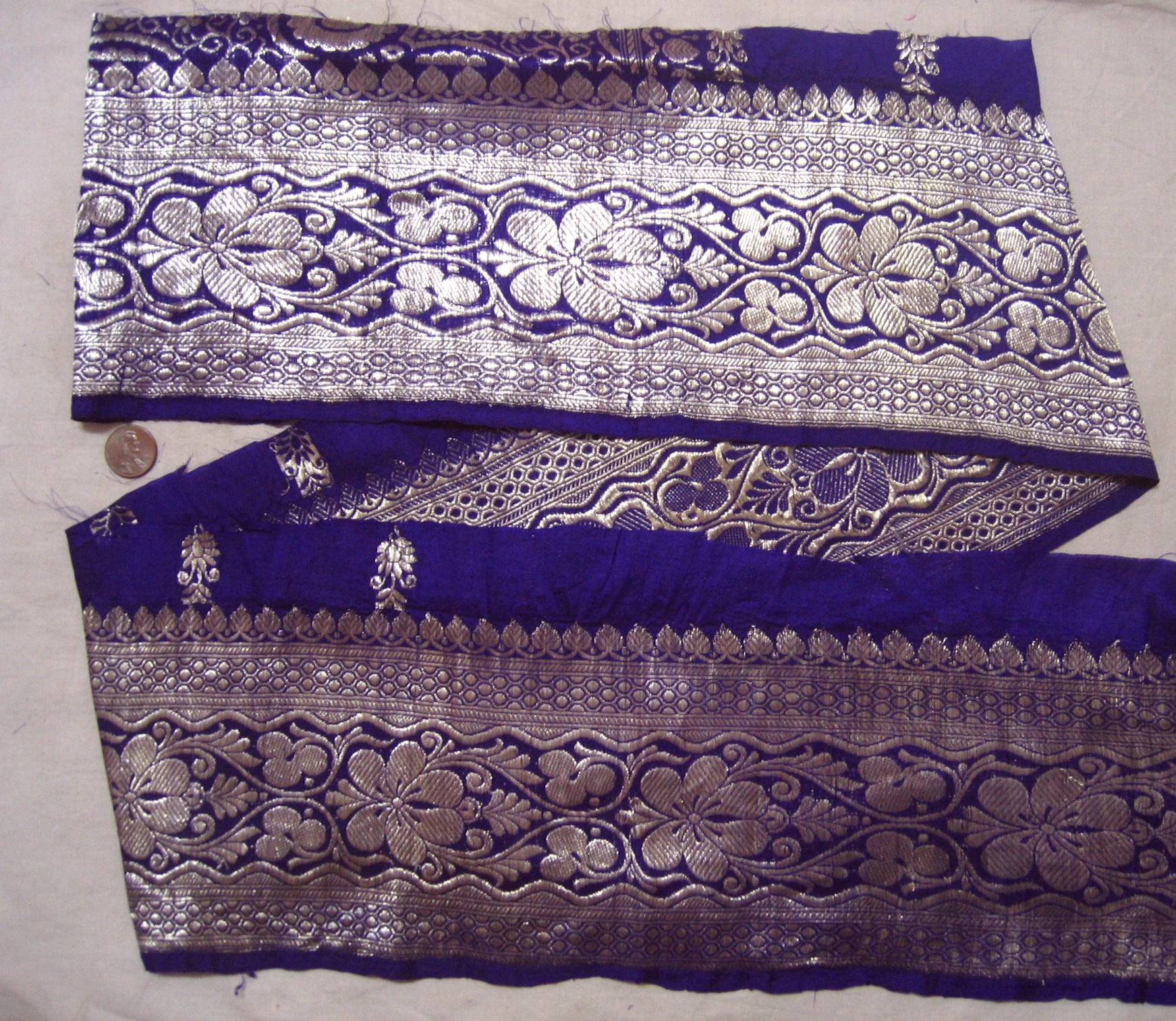 Vintage Antique Border Sari Trim Lace Ribbon BANARASI S