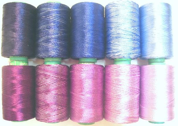 10 PURPLE BLUE RAYON Embroidery Thread Brand New SALE BARGAIN 984Y RSP5 #AC42V