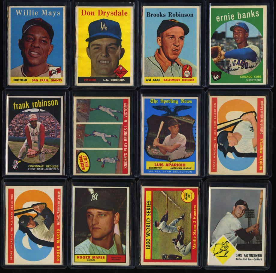 Lot(33) 1952-63 Topps Super Stars Mantle Mays Banks Maris Clemente, EX+ (PWCC) - Image 2