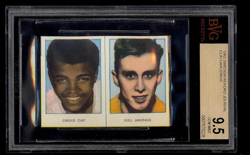 Image of: 1962 Swedish Rekord Journal Cassius Clay Muhammad Ali ROOKIE BGS 9.5 GEM (PWCC)