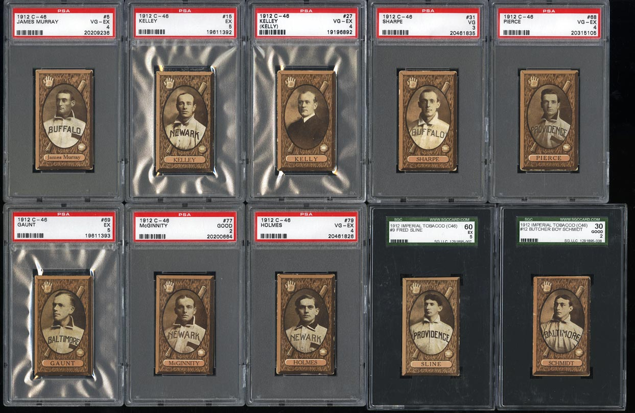 Image of: 1912 C46 Imperial Tobacco COMPLETE SET w/ Iron Man McGinnity, PSA (PWCC)