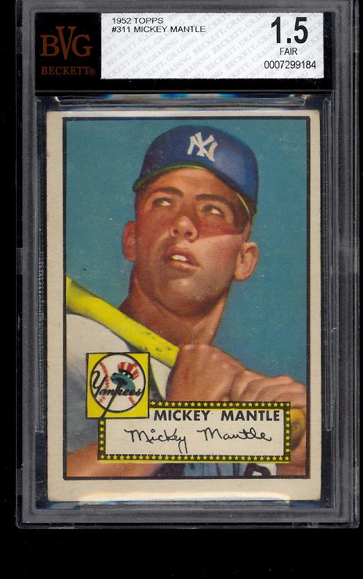 1952 Topps Mickey Mantle #311 BVG 1.5 FAIR+ (PWCC) - Image 1
