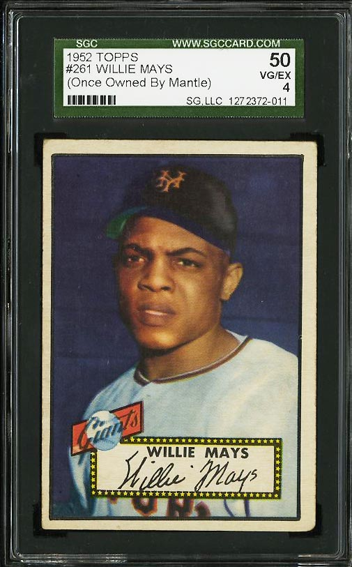1952 Topps Willie Mays OWNED BY MICKEY MANTLE #261 SGC 4 VGEX (PWCC) - Image 1