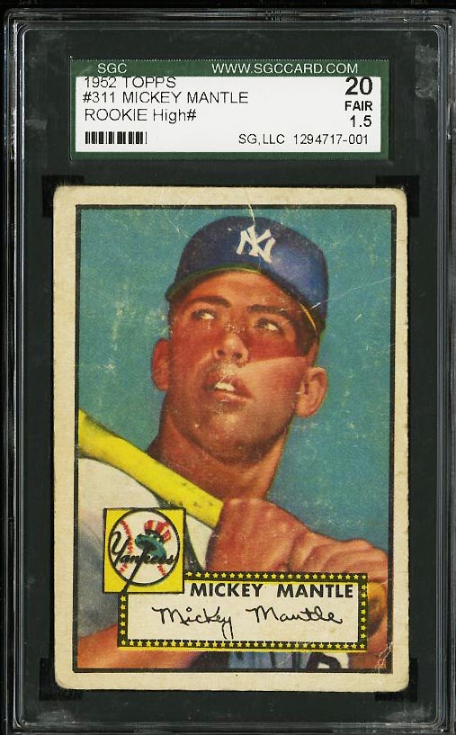 1952 Topps Mickey Mantle #311 SGC 1.5 FAIR (PWCC) - Image 1