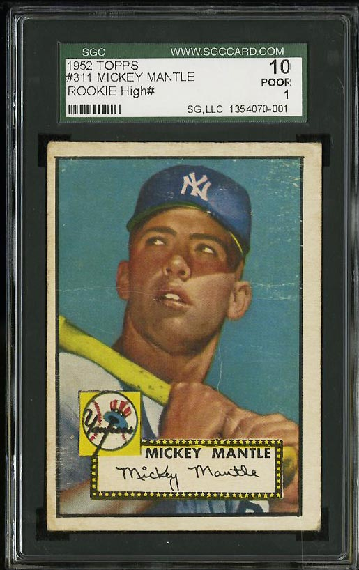 1952 Topps Mickey Mantle #311 SGC 1 POOR (PWCC) - Image 1