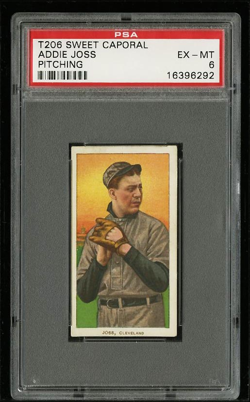Image of: 1909-11 T206 Addie Joss PITCHING PSA 6 EXMT (PWCC)