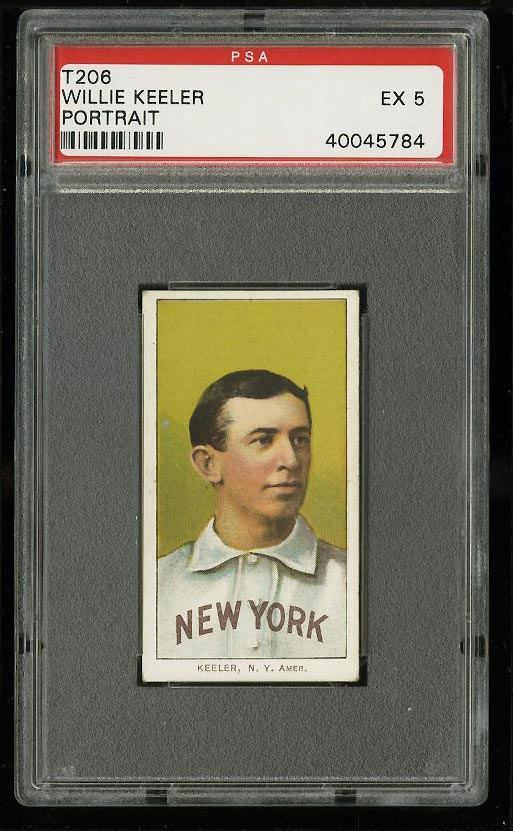 Image of: 1909-11 T206 Willie Keeler PORTRAIT PSA 5 EX (PWCC)