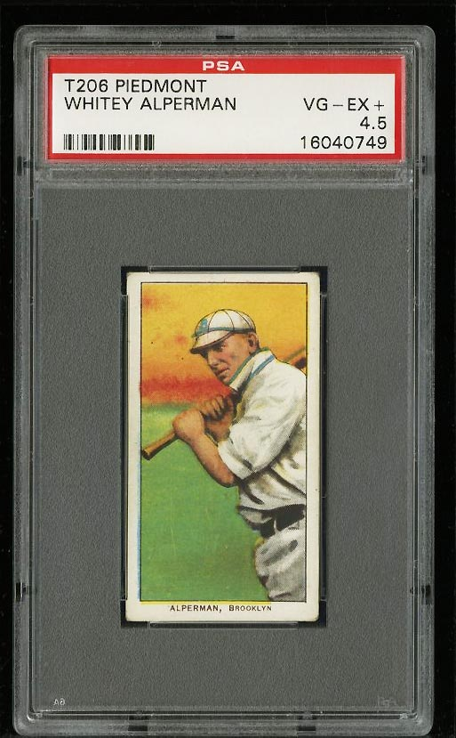 Image of: 1909-11 T206 Whitey Alperman PSA 4.5 VGEX+ (PWCC)