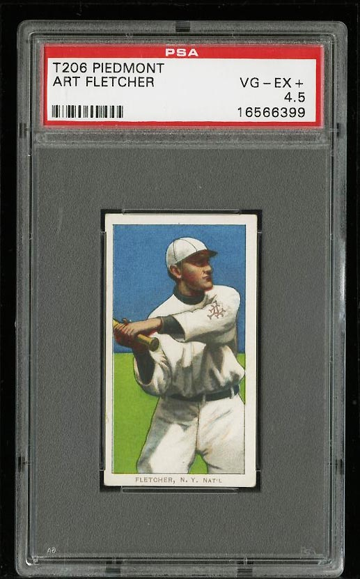 Image of: 1909-11 T206 Art Fletcher PSA 4.5 VGEX+ (PWCC)