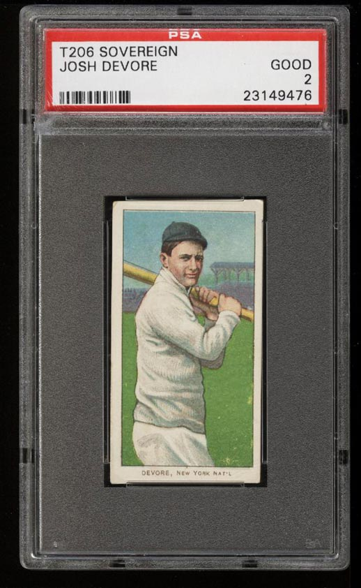 Image of: 1909-11 T206 Josh DeVore SOVEREIGN PSA 2 GD (PWCC)