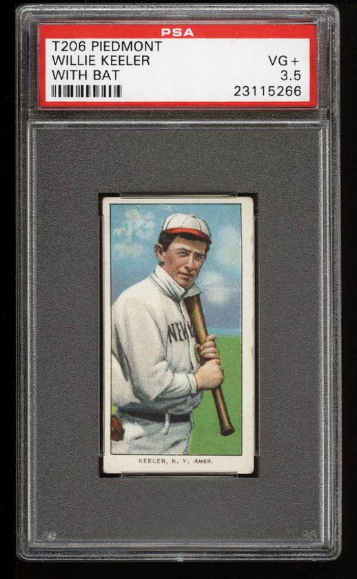 Image of: 1909-11 T206 Willie Keeler WITH BAT PSA 3.5 VG+ (PWCC)