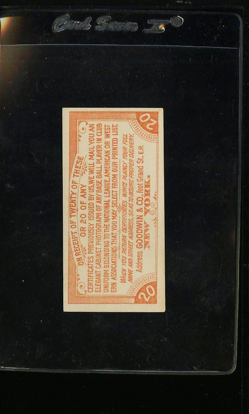 Image of: 1888 Goodwin & Co. Old Judge Coupon Redepmtion, EX (PWCC)