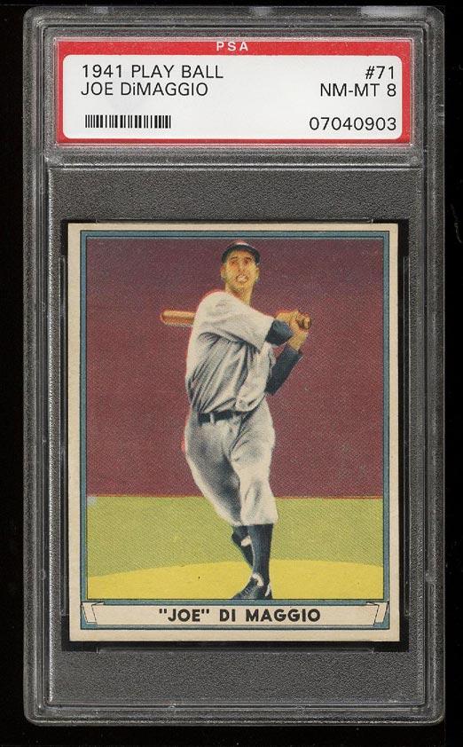 Image of: 1941 Play Ball Joe DiMaggio #71 PSA 8 NM-MT (PWCC)