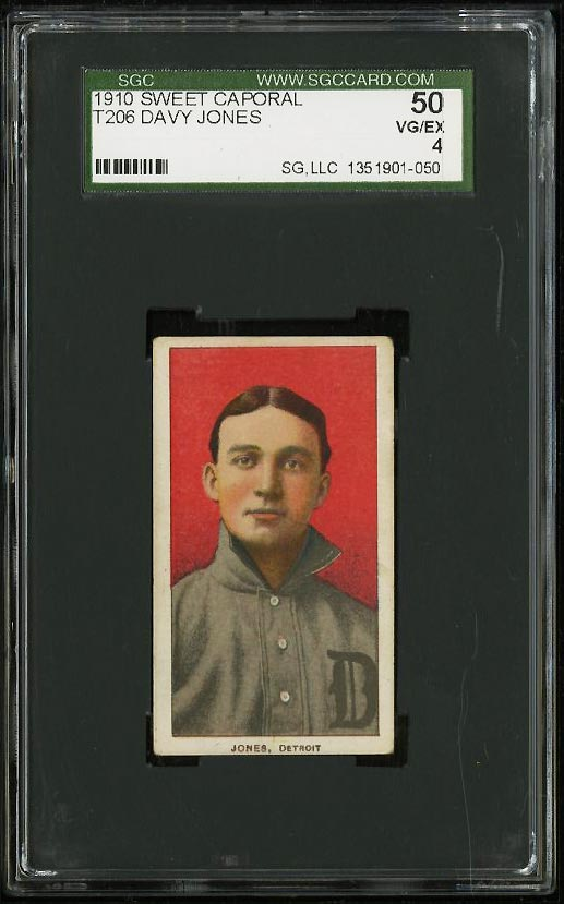 Image of: 1909-11 T206 Davy Jones SGC 4/50 VGEX (PWCC)