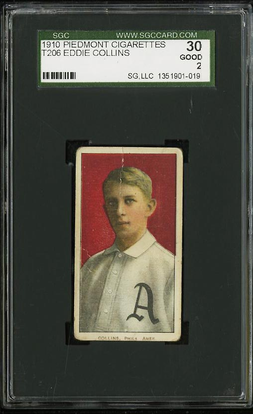 Image of: 1909-11 T206 Eddie Collins SGC 2/30 GOOD (PWCC)