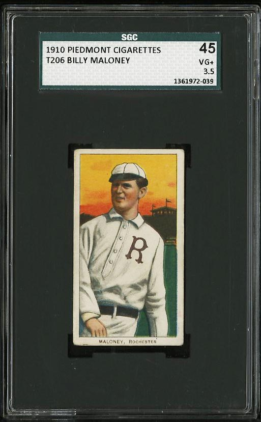 Image of: 1909-11 T206 Billy Maloney SGC 3.5/45 VG+ (PWCC)