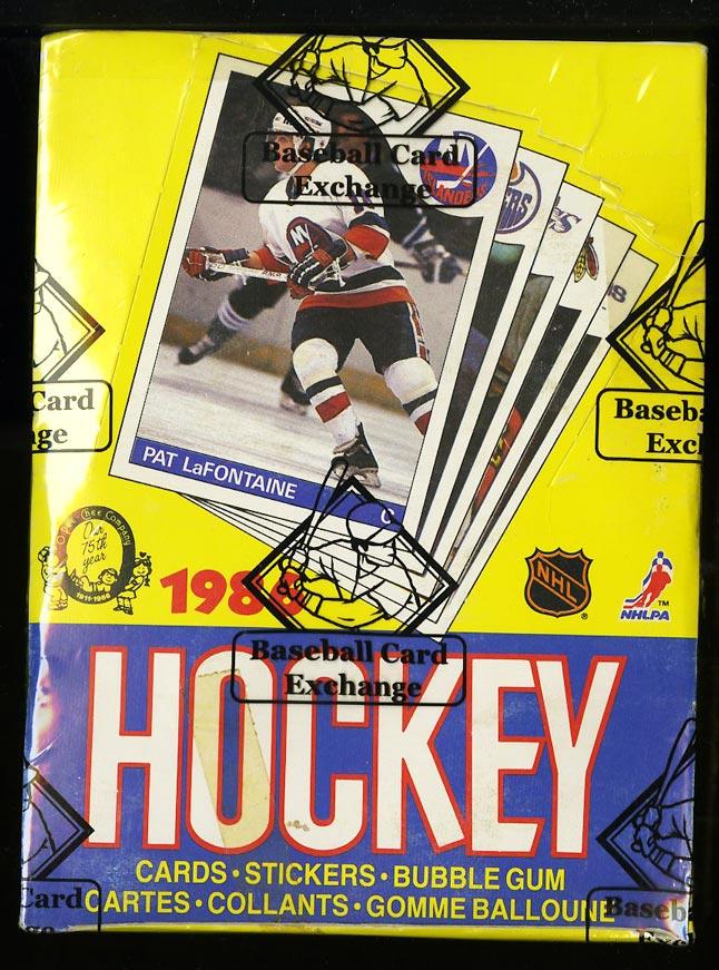 Image of: 1985 O-Pee-Chee Hockey Wax Box, 48ct Packs, Mario Lemieux RC, BBCE AUTH (PWCC)