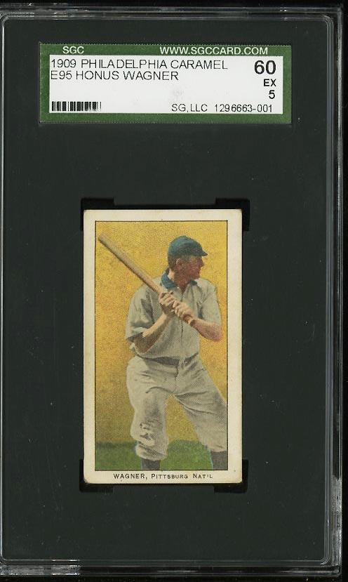 Image of: 1909 E95 Philadelphia Caramel Honus Wagner SGC 5/60 EX (PWCC)