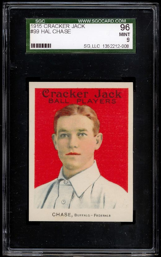 Image of: 1915 Cracker Jack Hal Chase #99 SGC 9 MINT (PWCC)