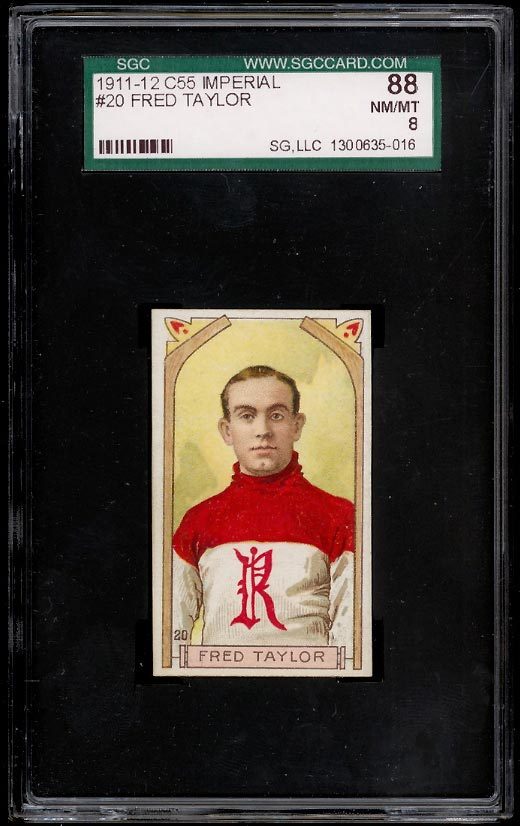 Image of: 1911 C55 Hockey Fred 'Cyclone' Taylor #20 SGC 8 NM-MT (PWCC)