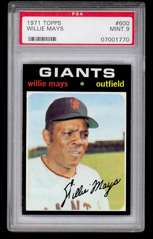 Image of: 1971 Topps SETBREAK Willie Mays #600 PSA 9 MINT (PWCC)