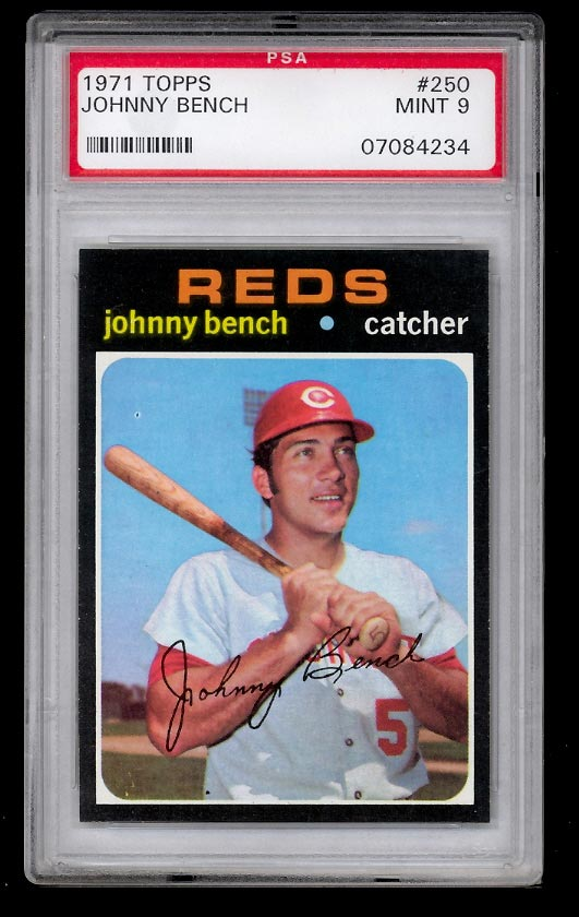 Image of: 1971 Topps SETBREAK Johnny Bench #250 PSA 9 MINT (PWCC)