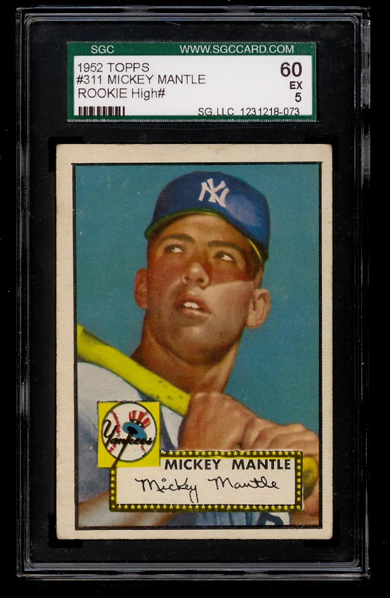 1952 Topps Mickey Mantle #311 SGC 5 EX (PWCC) - Image 1