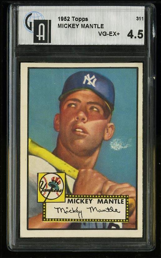 1952 Topps Mickey Mantle #311 GAI 4.5 VGEX+ (PWCC) - Image 1