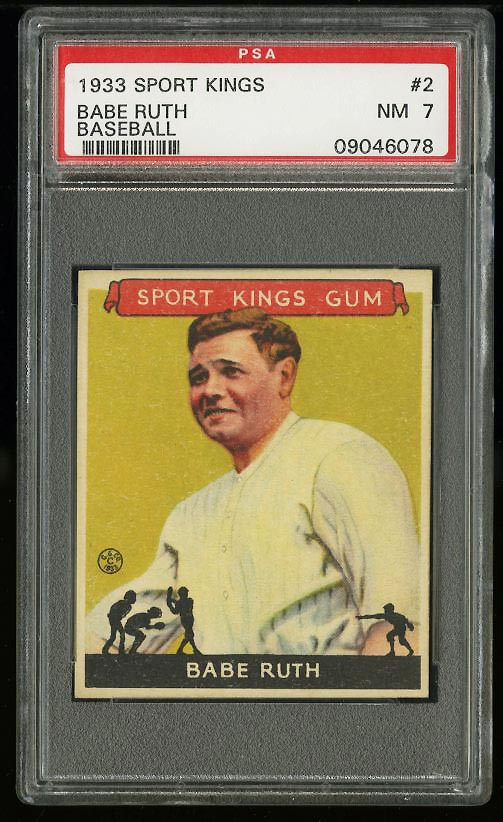 Image of: 1933 Goudey Sport Kings Babe Ruth #2 PSA 7 NRMT (PWCC)