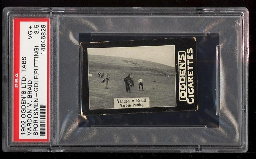 Image of: 1902 Ogden's Ltd. Tabs Golf Vardon V. Braid PUTTING PSA 3.5 VG+ (PWCC)