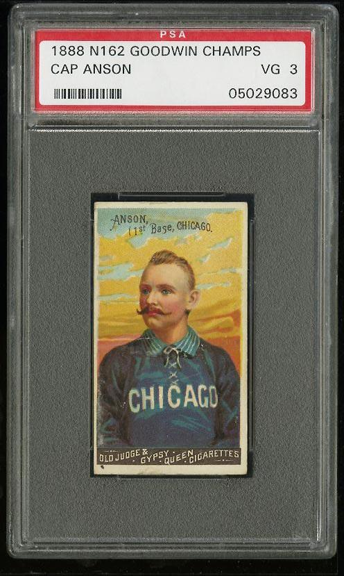 Image of: 1888 N162 Goodwin Champions Cap Anson PSA 3 VG (PWCC)