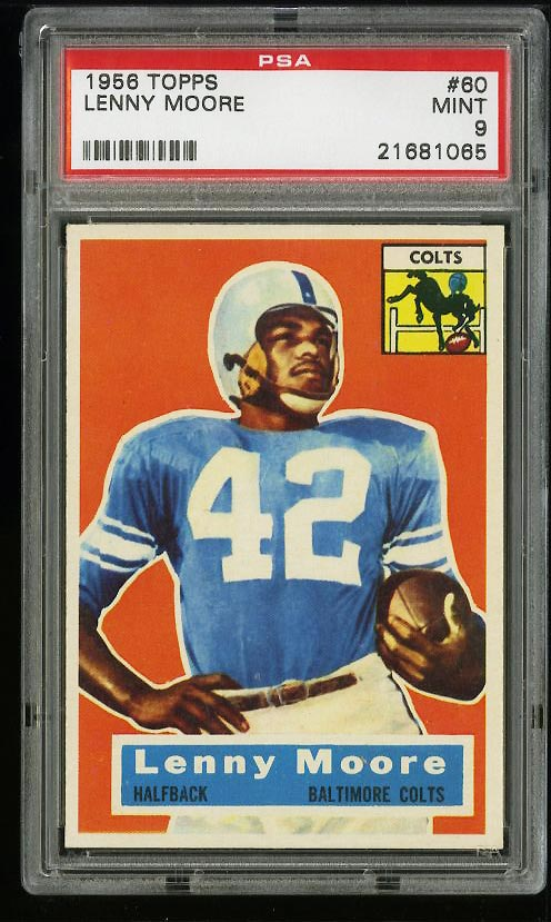 Image of: 1956 Topps Football Lenny Moore ROOKIE RC #60 PSA 9 MINT (PWCC)