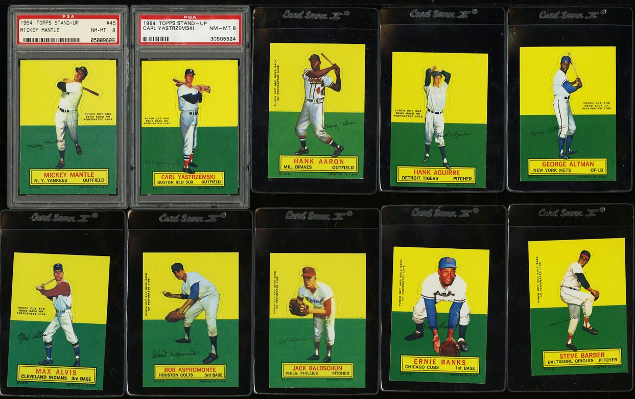 Image of: 1964 Topps Stand-Ups Mid-Hi Grade COMPLETE SET Mickey Mantle Mays, PSA (PWCC)