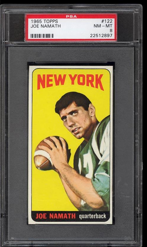 Image of: 1965 Topps Football Joe Namath SP ROOKIE RC #122 PSA 8 NM-MT (PWCC)