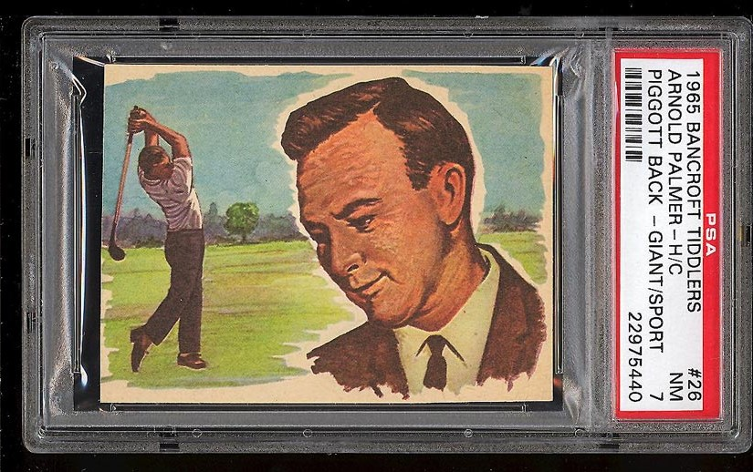 Image of: 1965 Bancroft Tiddlers Giants of Sport Arnold Palmer ROOKIE RC PSA 7 NRMT (PWCC)
