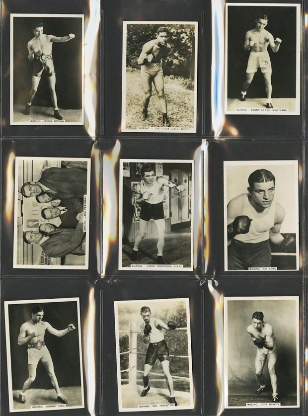 Image of: 1935 Pattreiouex Sporting Events Boxing COMPLETE SUB-SET Joe Louis Rookie (PWCC)