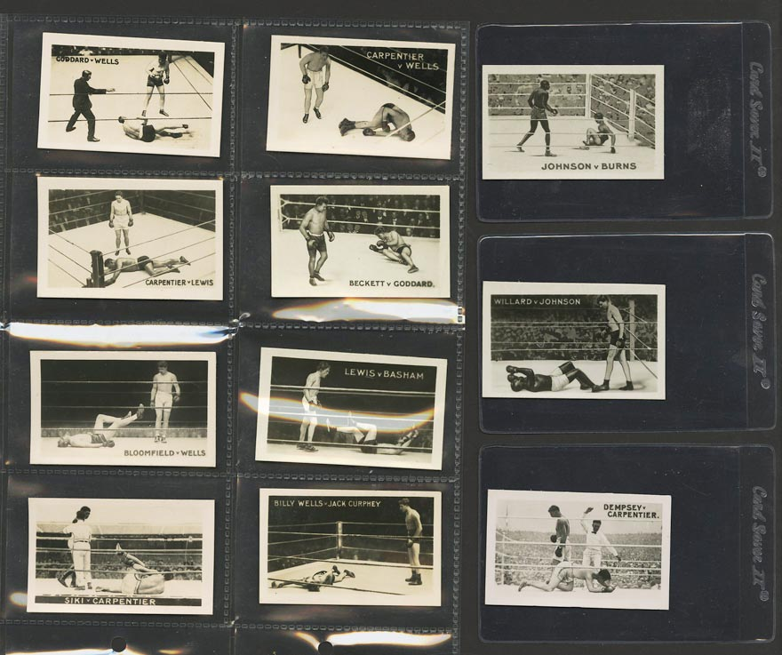 Image of: 1923 Rocket's Famous Knock-Outs COMPLETE SET Jack Johnson & Jack Dempsey (PWCC)