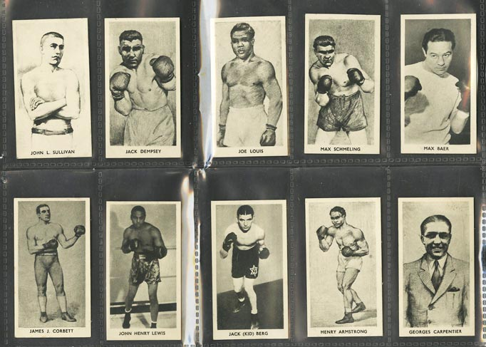Image of: 1938 Cartledge Boxing Near COMPLETE SET Joe Louis Jack Dempsey Sullivan (PWCC)