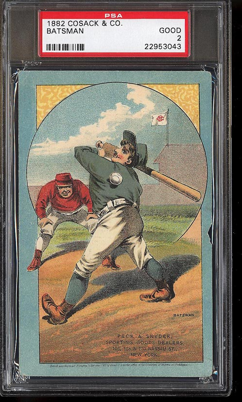 Image of: 1882 Cosack & Co. Lithographs SETBREAK Batsman PSA 2 GD (PWCC)