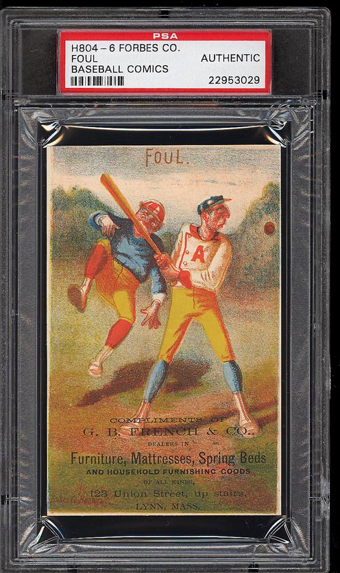 Image of: 1878 H804-6 Forbes Co. Baseball Comics Foul PSA Auth (PWCC)