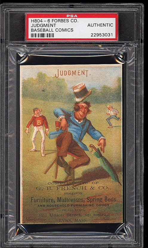 Image of: 1878 H804-6 Forbes Co. Baseball Comics Judgment PSA Auth (PWCC)