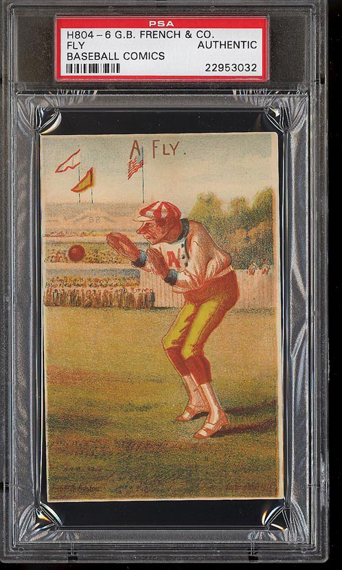Image of: 1878 H804-6 G.B. French Co. Baseball Comics Fly PSA Auth (PWCC)