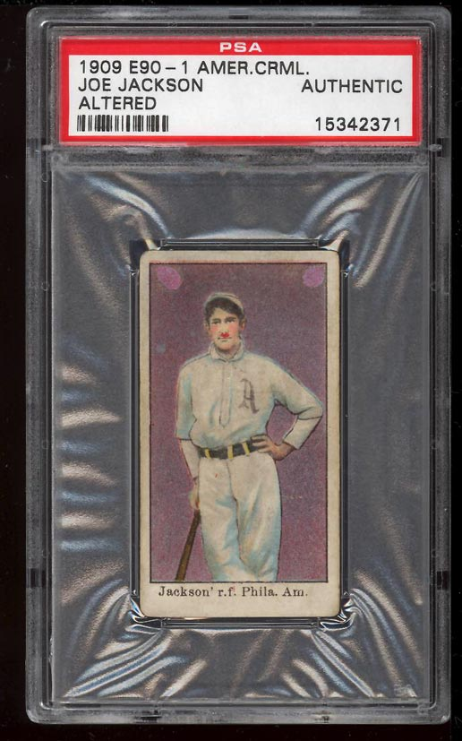Image of: 1909 E90-1 American Caramel Shoeless Joe Jackson ROOKIE RC PSA Auth (PWCC)