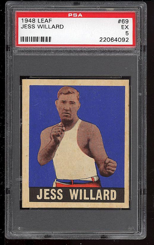 Image of: 1948 Leaf Boxing Jess Willard #69 PSA 5 EX (PWCC)