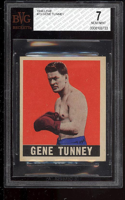 Image of: 1948 Leaf Boxing Gene Tunney #73 BVG 7 NRMT (PWCC)