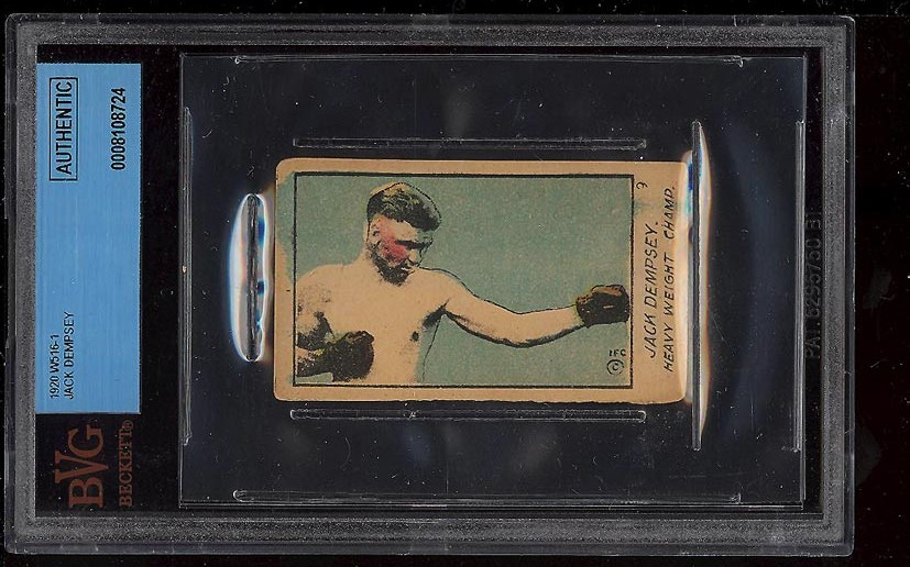 Image of: 1920 W516-1 Strip Boxing Jack Dempsey BVG Auth (PWCC)
