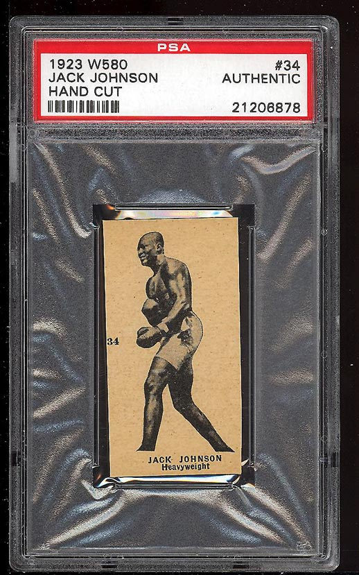 Image of: 1923 W580 Strip Boxing Jack Johnson #34 PSA Auth (PWCC)
