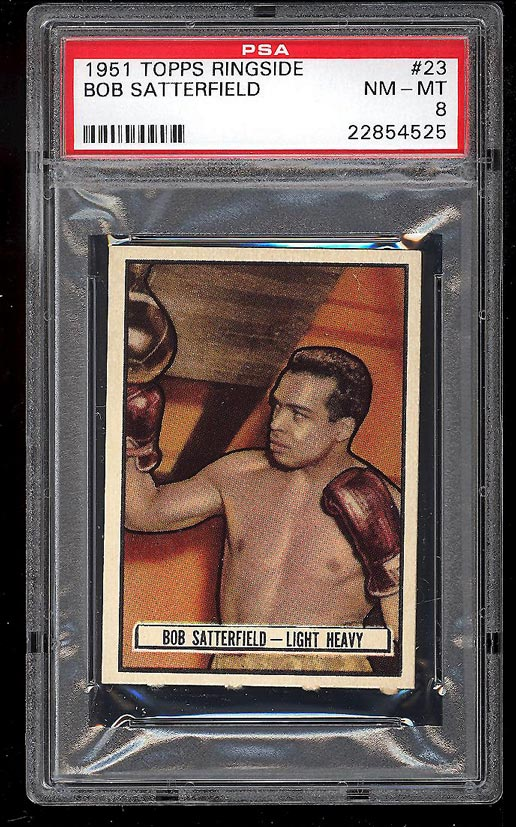 Image of: 1951 Topps Ringside Bob Satterfield #23 PSA 8 NM-MT (PWCC)